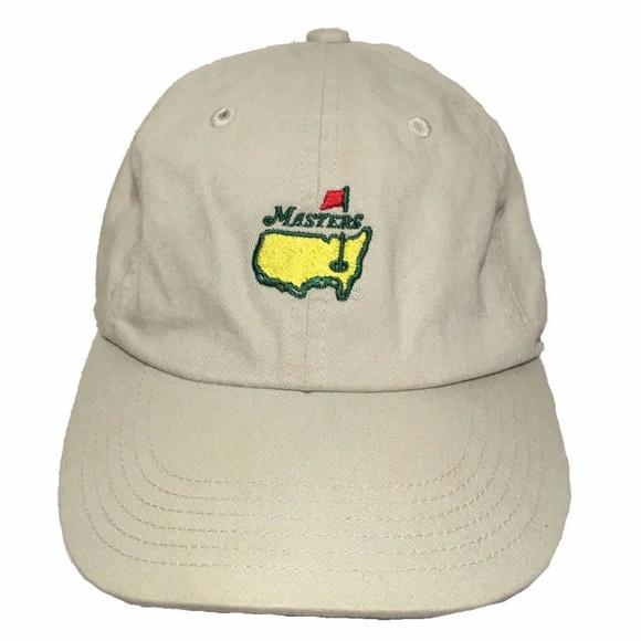 American Needle Other - Masters Golf Hat Khaki Adjustable American Needle 7362b40d84c